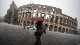 रोम में बारिश