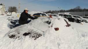 अमरीका बर्फ़बारी