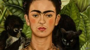 Autoretrato de Frida Kahlo.