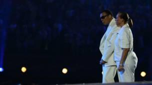 Mohamed Alí y su esposa. Juegos Olímpicos de Londres, 2012. Foto: Getty