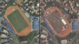 काठमाडौं रंगशाला, भूकम्प अघि र पछि