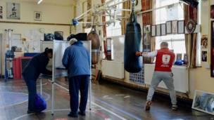 拳擊中心投票站
