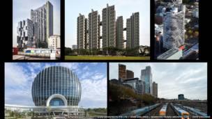 صورة مركبة لمباني الدور النهائي في فئة آسيا وأستراليا