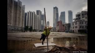 Рабочий в Шанхае