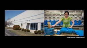 Тереза работает на фабрике текстильных изделий уже шесть лет