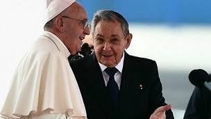 Papa Francisco y Raúl Castro en Cuba