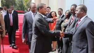 Kikwete akiwa Kenya