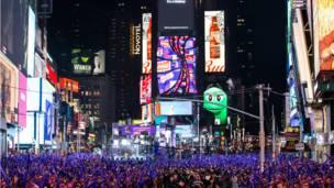 न्यूयॉर्क में नया साल