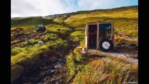 Fisherman's cabin at Killary Harbour at Leenane in the Republic of Ireland. Stu J Beesley