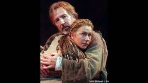 Helen Mirren ve Alan Rickman Anthony ve Kleopatra oyununun provasında, John Stillwell / PA