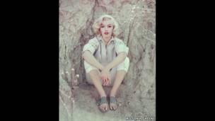 The Rock Sitting, LA, 1953 - Milton H Greene / Archive Images
