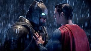 बैटमैन वर्सेज सुपरमैन का दृश्य