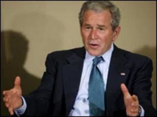جورج بوش، رئیس جمهور آمریکا