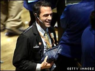 شادی یک معامله گر در بازار بورس نیویورک