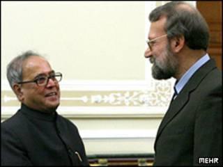 علی لاریجانی و وزیر امور خارجه هند