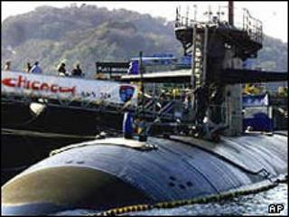 زیردریایی یو اس اس شیکاگو -عکس آرشیوی