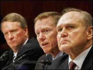 مدیران عامل سه شرکت اصلی خودروسازی آمریکا