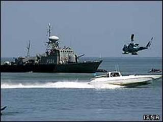 عکس آرشیوی از تمرین نظامی ایران در خلیج فارس