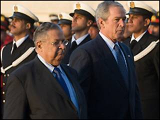 جورج بوش و جلال طالبانی