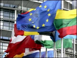 پرچم کشورهای اتحادیه اروپا