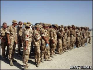 سربازان بریتانیایی در هلمند