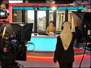 استودیوی پخش خبر تلویزیون فارسی بی بی سی