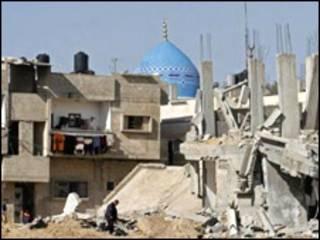 خرابی ها در غزه