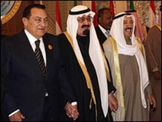 Mubarak e rei Abdullah
