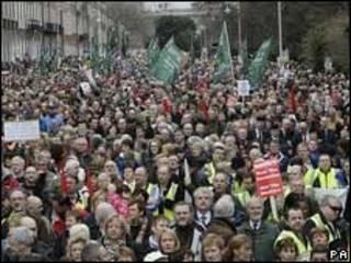 Protesto na Irlanda