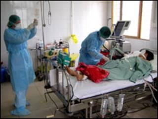 Bệnh nhân Múi đang được chăm sóc tại bệnh viện