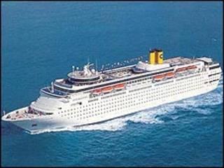 O navio Costa Romântica (divulgação)