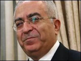 O primeiro-ministro da Autoridade Nacional Palestina, Salam Fayyad. Foto: Getty Images