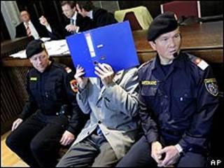Josef Fritzl en los tribunales de Austria.