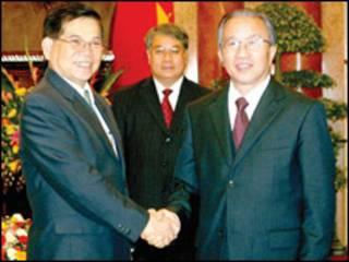 Chủ tịch Nguyễn Minh Triết và ông Đới Bỉnh Quốc