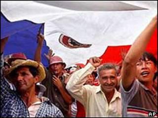 Campesinos paraguayos protestan (imagen de archivo)