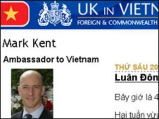 Trang blog của Đại sứ Mark Kent