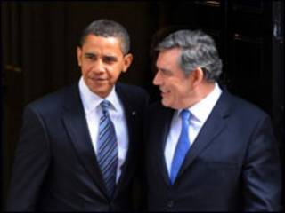 Obama e Brown
