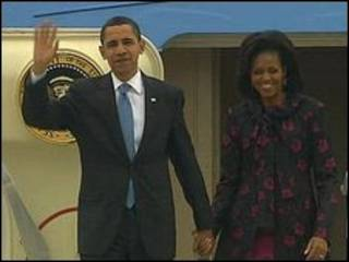 باراک اوباما و همسرش میشل