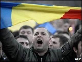 Manifestação em  Chisinau
