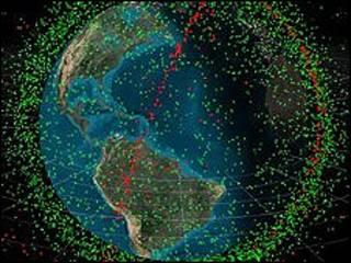 အာကာသထဲမှ ဂြိုဟ်တု အပိုင်းအစများ