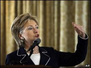 A secretária de Estado americana, Hillary Clinton
