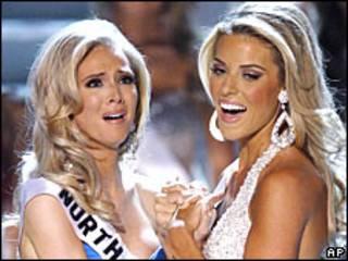 Miss Carolina do Norte e Miss Califórnia