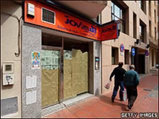 Tienda vacía en Almería, España