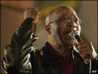 Jacob Zuma, futuro presidente de Sudáfrica