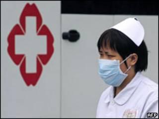 Enfermeira em Chengdu
