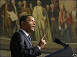 Barack Obama durante discurso nesta quinta-feira