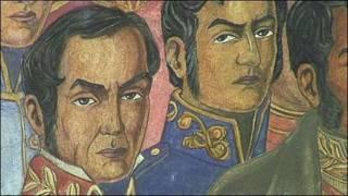 Pintura de próceres latinoamericanos