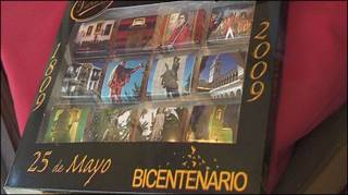 Placa del bicentenario de chocolate.