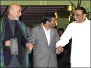 کرزی، اصف علي زرداري او احمدي نژاد