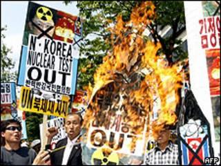 Protestos em Seul